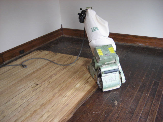 we specialize in sanding refinishing